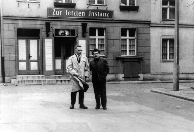 Доцент А.А.Кокин и профессор Н.И.Калитеевский (Ленинградский университет). Берлин 1964г. (Здесь был Штирлиц?)