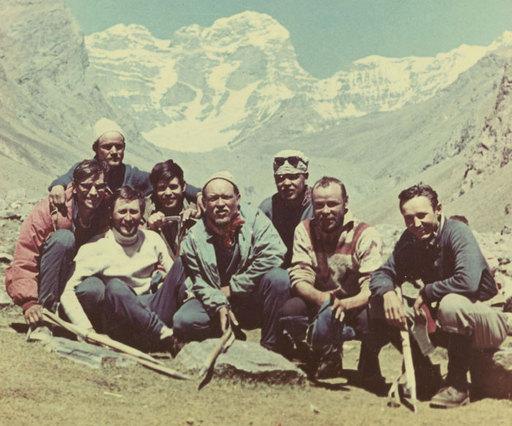 """Команда альплагеря """" Джайлык """" 1972 года"""